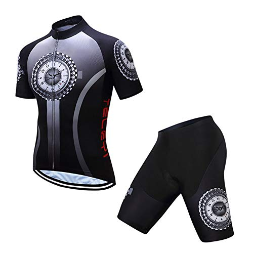 TZTED Ciclismo Maillot Hombres Jersey + Pantalones