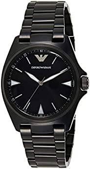 Emporio Armani Men's Black Dial Stainless Steel Analog Watch - AR1