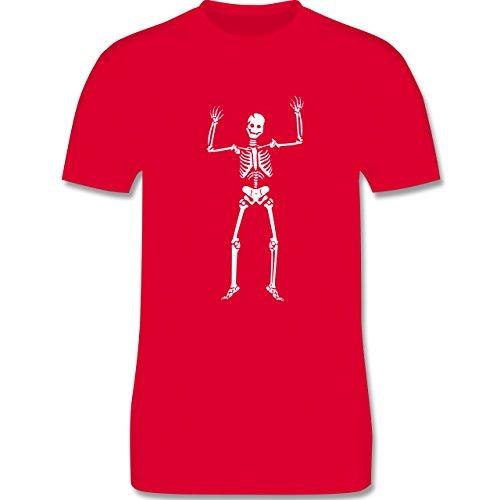 Halloween - Skelett Skeleton - Herren Premium T-Shirt Rot