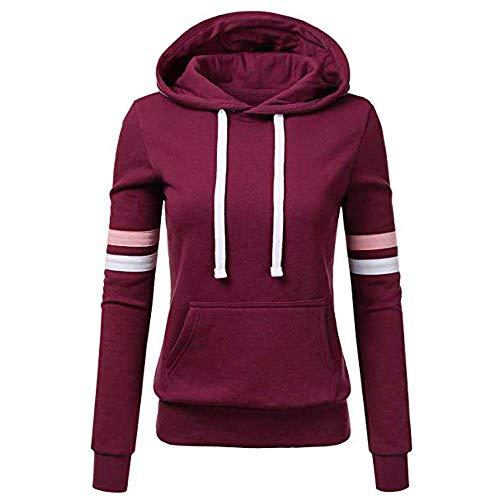 TOPKEAL Hoodie Pullover Damen Herbst Winter Kapuzenpullover Sweatshirt Lässige Winterpullover Patchwork Jacke Mantel Tops Mode 2019