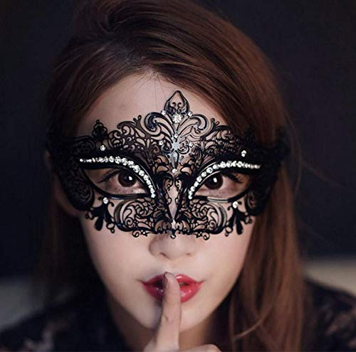 Anyeat Masquerade Maske Half Face Masks Makeup Cosplay Diamond Ball Supporting Metal Iron Princess Butterfly Eye Mask Iron Mask …