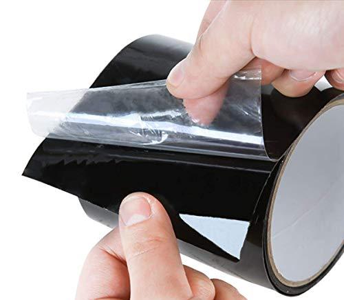 Schwongent Patch Tape schwarz Allwetter Patch Tape Stretch Wasserdicht Dichtband für Dachrohren Boote Löcher Risse 10,2 cm x 1,52 m