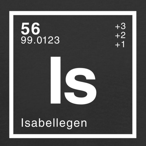Isabelle Periodensystem - Damen T-Shirt - 14 Farben Schwarz