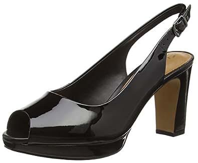 Clarks Jenness Sound, Escarpins Femme - Noir (black Patent Leather), 37 EU