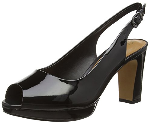 Clarks Jenness Sound, Damen Slingback Pumps, Schwarz (Black Patent Leather), 37.5 EU (4.5 Damen UK)
