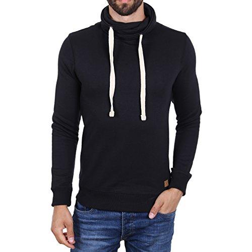 Blend Basic High Neck Pullover Schwarz Schwarz