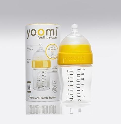 Yoomi 8 oz Feeding Bottle with Medium Flow Teat by Yoomi