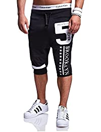 MT Styles Sweat-Short pantalon contrasté homme R-571