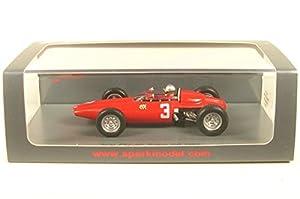 SPARK-BRM-P57-GP Inglaterra 1963-Coche en Miniatura de colección, S5750, Rojo