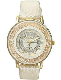 Oleva Premium Women's Leather Watch OPLW-16-WHITE