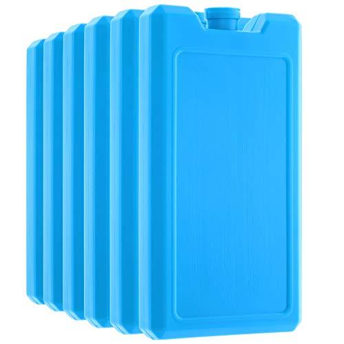 com-four® 6er Pack Kühlakkus, je 200 ml, blau - für die Kühltasche (06 Stück - 200ml blau) -