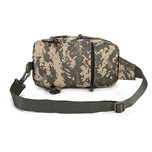 YAAGLE Multifunktional Hüfttasche outdoor Freizeit Brustbeutel militärisch Herren Taschen Reisetasche Kuriertasche schick Schultertasche-Tarnung 3 Tarnung 3