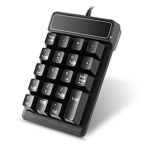 Nummernblock Eletek Numerisch Tastatur USB 19 Tasten Silent Ergonomisch Ziffernblock für iMac, Macbook, Laptop / Notebook, PC (Zahl-tastatur-tastatur-pad Numerische)
