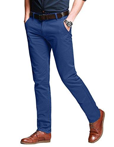 Match Herren Slim-Tapered Flat-Front Casual Hose #8050(8050 Indigo,34) Flat-front-hose
