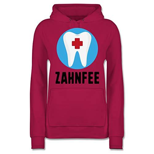 Shirtracer Karneval & Fasching - Zahnfee Zahn mit Kreuz - M - Fuchsia - JH001F - Damen Hoodie