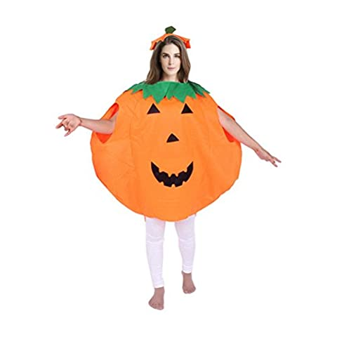 Janly® For 3-10 Years Babys Pumpkin Outfit Tops+Hat Halloween Costume Accessory Party Props (Adult,