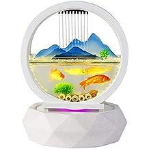 PIG Peceras de cristal Tipo de hoja de loto redondo Adornos de agua de