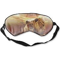 Augenmaske mit Tier-Löwenpaar, Afrika, Sonnenuntergang, Seide, bequem, Schlafmaske preisvergleich bei billige-tabletten.eu
