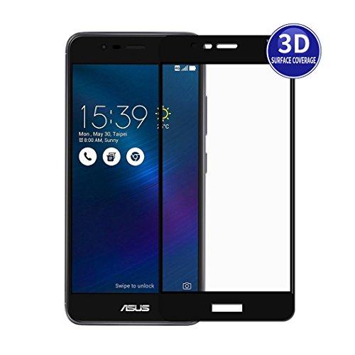 X-Dision 3D Film de Protection pour Zenfone 3 MAX 5.2 ZC520TL (Noir) Plein écran Protecteur Premium HD Protection de verre de durcissement de 9H Complete Cover Anti-empreintes digitales et Anti-éclats