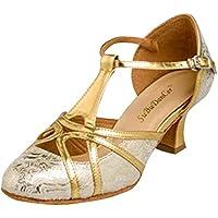 Oasap Women Shimmer Hollow Out Latin Dance High Heel Sandals