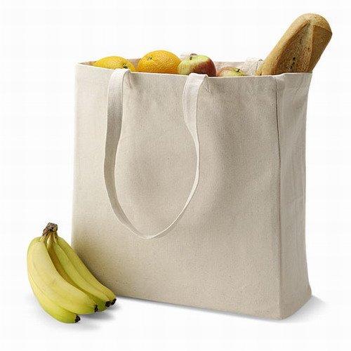 Quadra - Sac de Shopping en Toile Quadra - Blanc