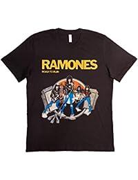 T-shirt Unisex Fashion 100% Cotone (VERIFICA LA TUA TAGLIA DALLA SCHEDA) Ramones Road To Ruin Classic Rock Band Punk Vintage Moda