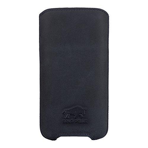 """Solo Pelle iPhone 8 Plus / 7 Plus / 6 Plus / 6S Plus Case Lederhülle Ledertasche """"Leon"""" 5,5 Zoll aus echtem Leder als edles Zubehör für das Original Apple iPhone 7 Plus / 6 Plus / 6S Plus in Cognac Br Vintage Blau"""