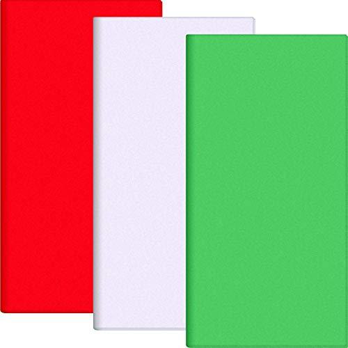 idenpapier Geschenkpapier Packpapierbogen Einfache und schnelle Geschenkverpackung Zubehör für Thanksgiving Weihnachten Geburtstag Hochzeit /Handmake DIY-180-Blätter-Grün Rot Weiß) ()