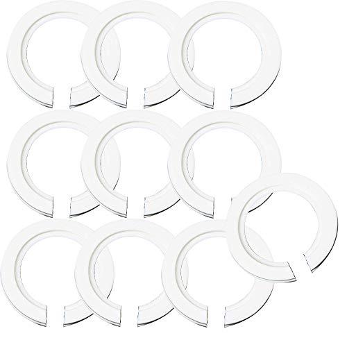 Pingenaneer Set aus 10 Stück Kunststoff E27 bis E14 Lampenschirm Fest Snap Ring Lampenfassung...