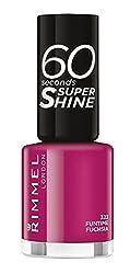 Funtime Fushia : Rimmel 60 Seconds Super Shine Nail Polish - 8 ml, Funtime Fushia
