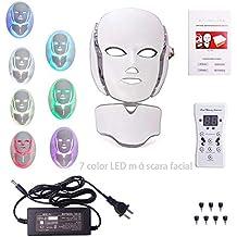 7 Colores LED Luz Facial MáScara Fotorejuvenecimiento Espectro Inicio Fototerapia Belleza Instrumento Con MáScara De Cuello
