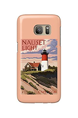 Cape Cod, Massachusetts - Nauset Light and Sunset (Galaxy S7 Cell Phone Case, Slim Barely There) (Nauset Light Cape Cod)