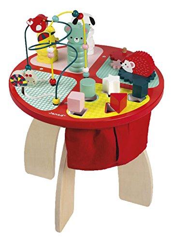 Janod Holzspielzeug - Spieltisch Puzzle- Holzfigur Spiel-Steckfiguren Geschicklichkeit, Mehrfarbig