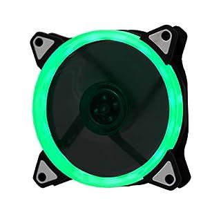 Lilware BoostPro 120mm Luftstrom, mit Einfarbiger LED, Leise, und Hochleistungsfähigen Lüfter. Grün