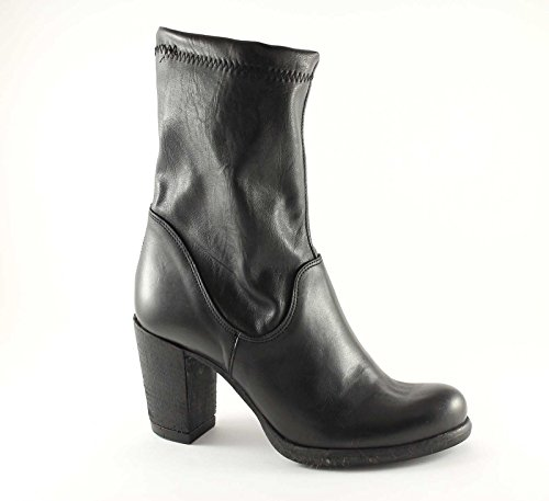 GRUNLAND GIò TERA ST0332 nero stivaletti donna tronchetti tacco 39