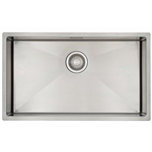 Évier cuisine 1 bac Mizzo Linea 70-40 | Évier en Inox 1.2mm Épais | Rayon Angles internes de 10mm...