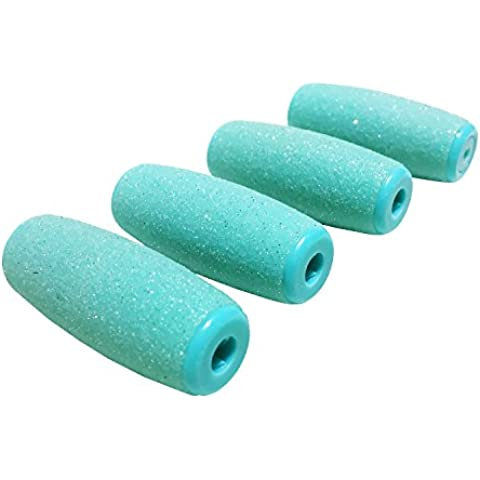 Kosee Beauty Conjunto de Pedicura 4 Cabezales de Repuesto Pedi Rodillos Extra Grueso Para Hard Piel Seca Archivo Callo Del