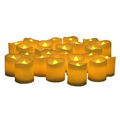 KOBWA LED Flammenlose Kerzen, flackernde Votiv Kerzen, flackernd batteriebetrieben Kerzen, 24Stück (Bulk Lichter Tee Flammenlose)