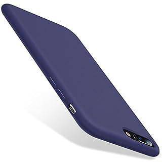 TORRAS iPhone 8 Plus Case, iPhone 7 Plus Case, [Love Series] Liquid Silicone Gel Rubber Case with Soft Microfiber Cloth Lining Cushion for iPhone 8 Plus (2017) / iPhone 7 Plus (2016) - Midnight blue