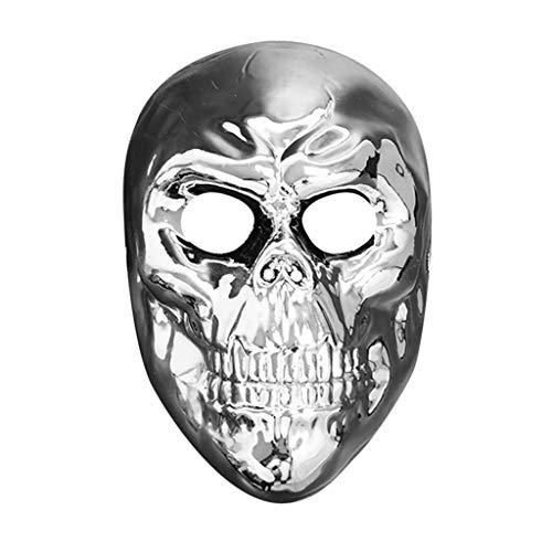 iYmitz Karneval Damen Herren Maske Gold und Silber Erwachsene Maskerade Masken Festival Karnevals Partys Kostüm Fasching(Grau,One ()