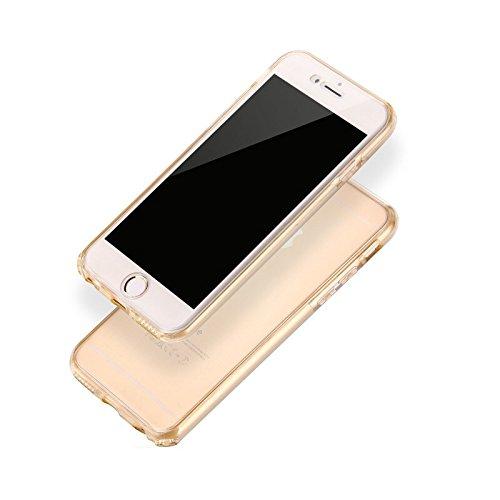 IPhone 7 Plus Case, 360 Grad Vollkörper-Schutz Ultra-Slim Transparent TPU Soft Case für IPhone Serie Modelle ( Color : Blue , Size : IPhone 7 ) Gold
