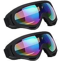 eea228d3543a38 Vicloon Lunettes de Ski Masques Snowboard,Motoneige Moto Lunettes Ski  Goggles Protection Lunettes Lens Anti