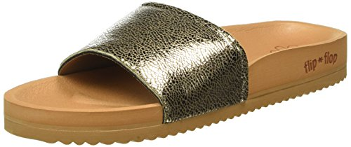 flip*flop Pool Metallic Cracked, Mules femme Marron - Braun (Brown sugar 833)
