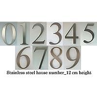 Numero civico in acciaio_altezza 12 cm