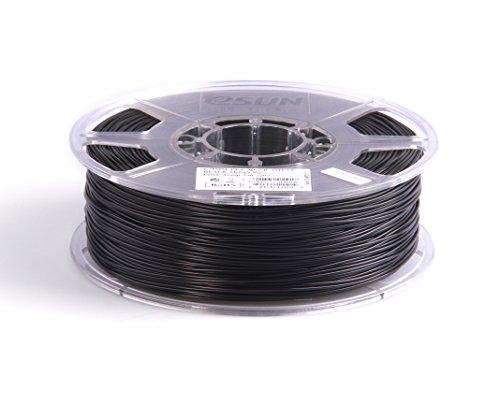 eSun 3D Filament - PLA, 1kg / 3.00mm - Schwarz, Druck Tempe. 190-220 Grad C, Universal
