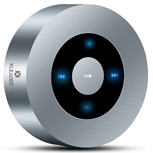 [Diseño LED Tacto] Altavoz Bluetooth, XLeader Altavoces Bluetooth Portátiles con Sonido HD/12 Horas de reproducción/Bluetooth 4.1/Soporte Micro SD,para iPhone/iPad/Tableta/Echo (Plata)