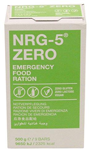 Forever Notverpflegung, NRG-5, Zero, 500 g, (9 Riegel), 7% MwSt