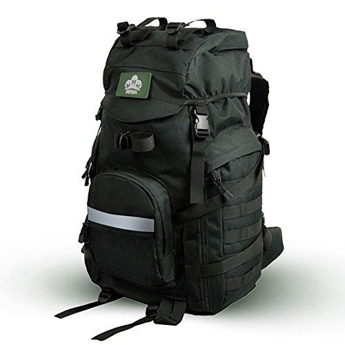Generic tessuto Oxford alpinismo zaino borse da viaggio 60L, Light grey camouflage Black