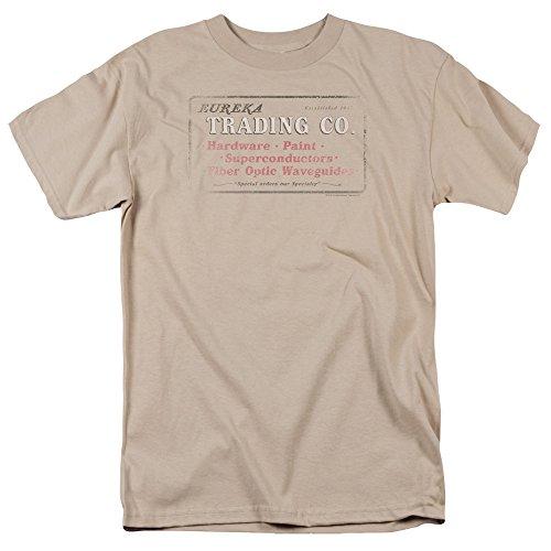 Trevco Herren Eureka Trading Adult T-Shirt, Sand, Mittel -