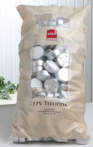Eika-Teelichter 4,5 Stunden Brenndauer (175er-XXL-Beutel)